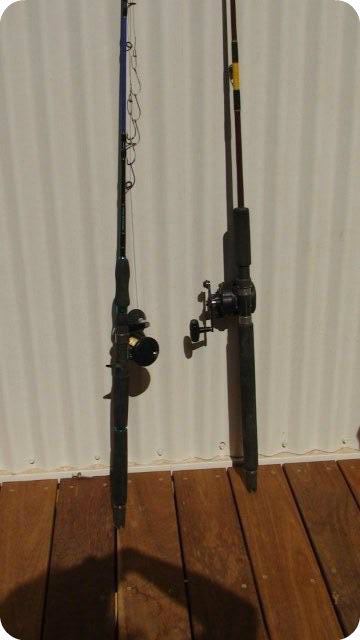 Exmouth boat hire 6707 ningaloo reef exmouth coral bay for Heavy duty fishing rods